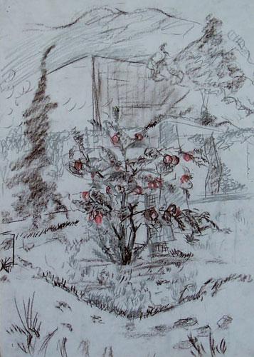 高05级15班 张媛媛   入境   绘画一等奖 高04级21班 董洁如   硕果   绘画